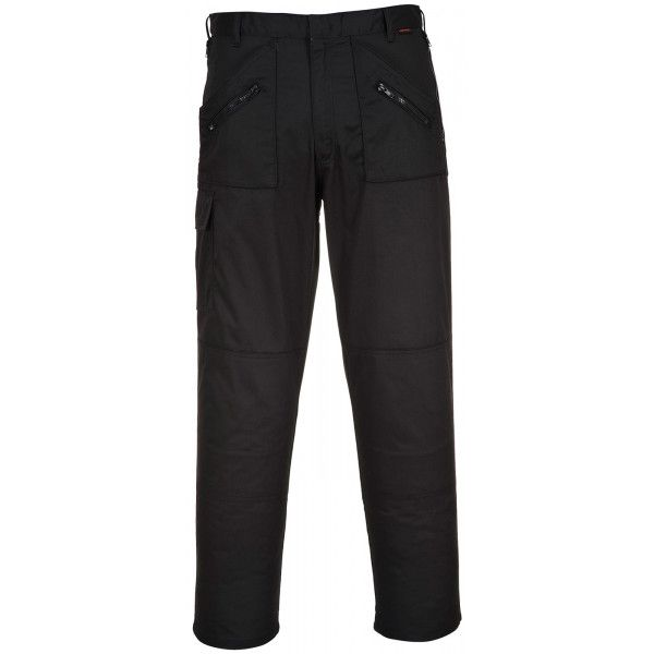 Action Trousers Black 42In. Waist Regular