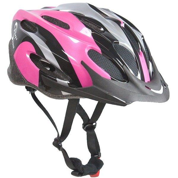 Vapour Adult Black Pink Cycle Helmet 5658Cm