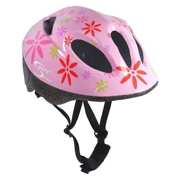 Pink Flower Junior Pink Cycle Helmet 4852Cm