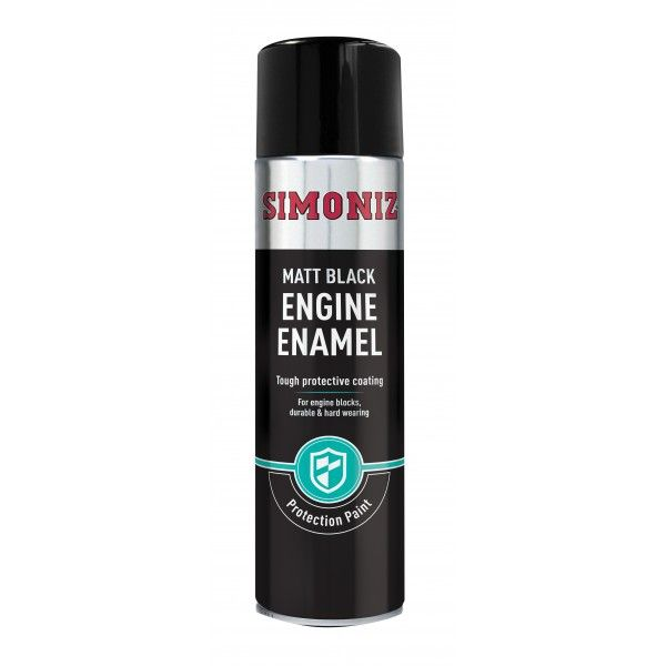 Black Matt Engine Enamel 500Ml