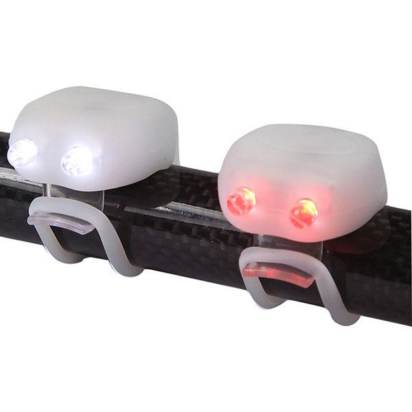 Megamini Twin Led Silicone Cycle Light Set White
