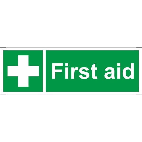 First Aid Sign Self Adhesive Vinyl 100Mm X 300Mm