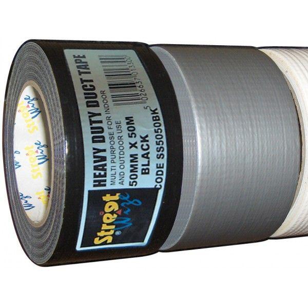 Duct Tape Black 50Mm X 50M