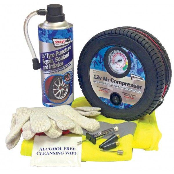 Tyre Sealer Kit With Compressor