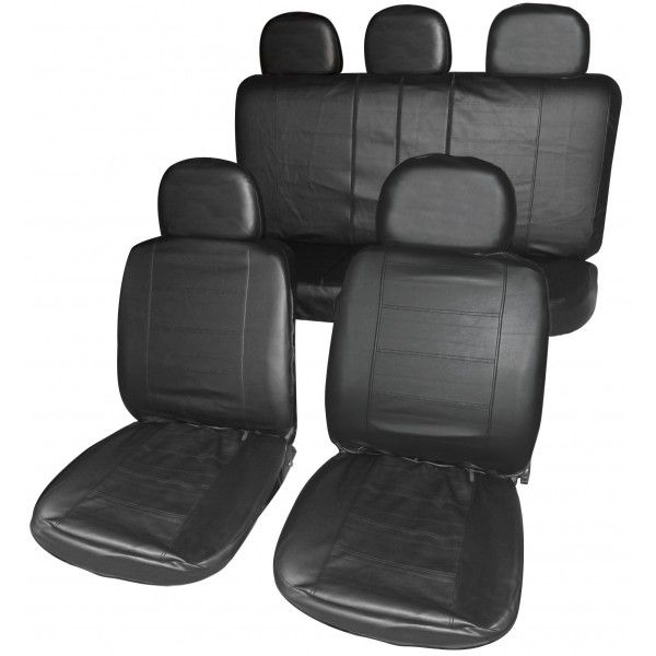 Car Seat Cover Full Set Black