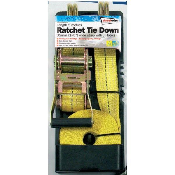Ratchet Tie Down J Hooks Heavy Duty 35Mm5m