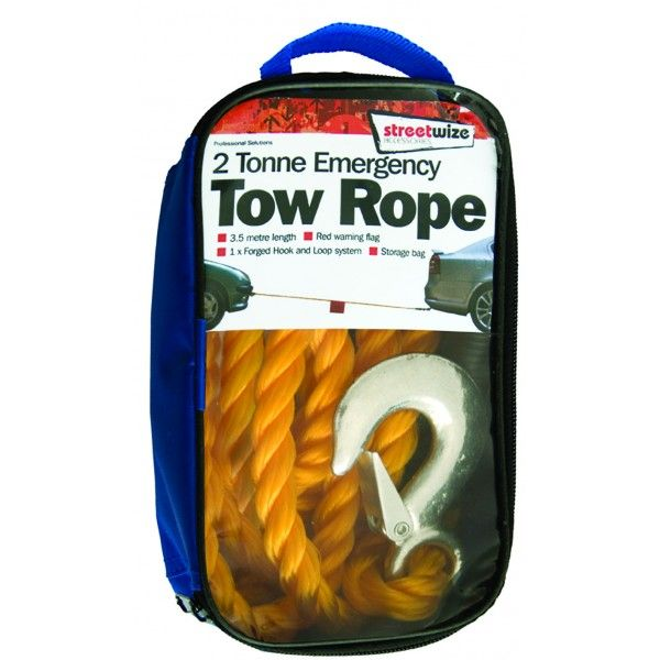 Tow Rope Braided Yellow 2 Tonne