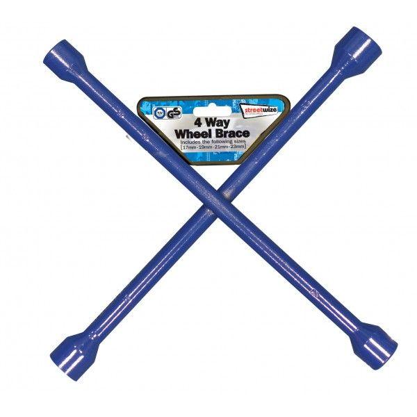 Wheel Brace 4 Way Blue