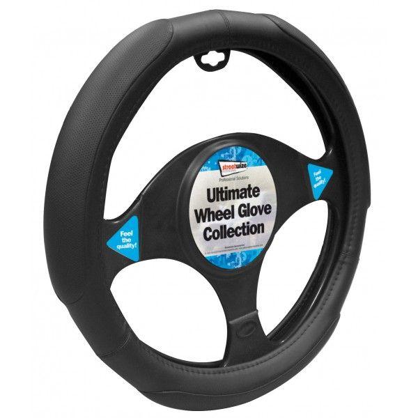 Steering Wheel Cover Added Grip Blackblack