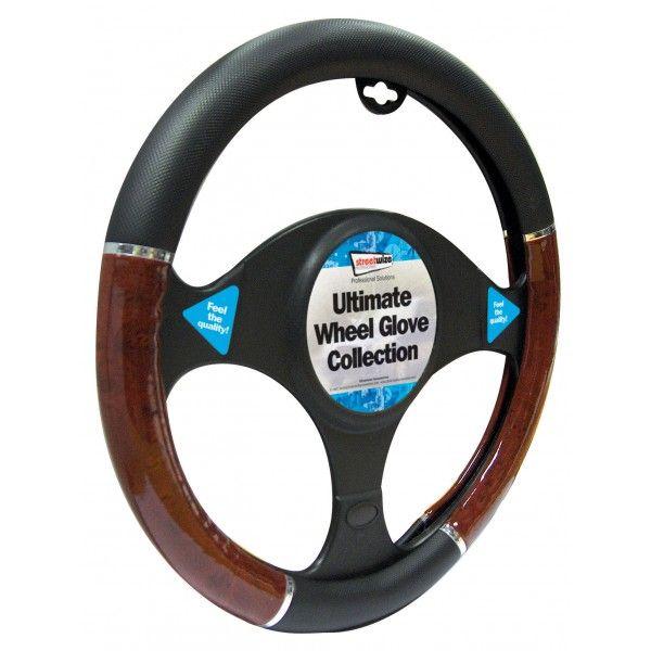 Steering Wheel Cover Luxury Blackwood