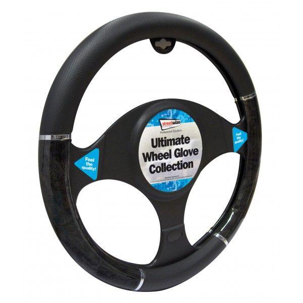 Steering Wheel Cover Luxury Blackmetallic