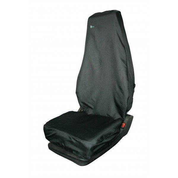 Universal Seat Cover Single High Back Black