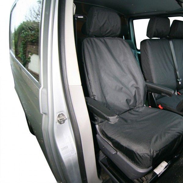 Van Seat Cover Front Single Black Volkswagen Transporter 2003 Onwards?