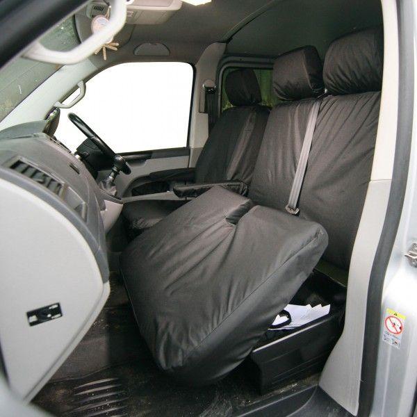 Van Seat Cover Front Double Black Volkswagen Transporter 2003 Onwards?