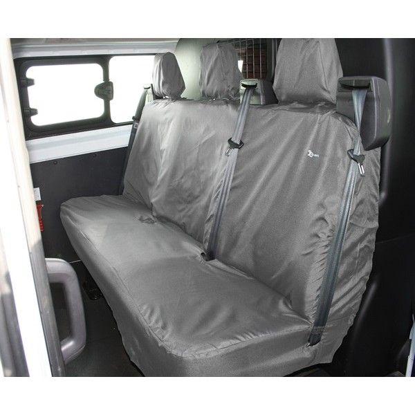 Van Seat Cover Rear Black Ford Transit Custom Crew Nonfolding 201363 Onwards