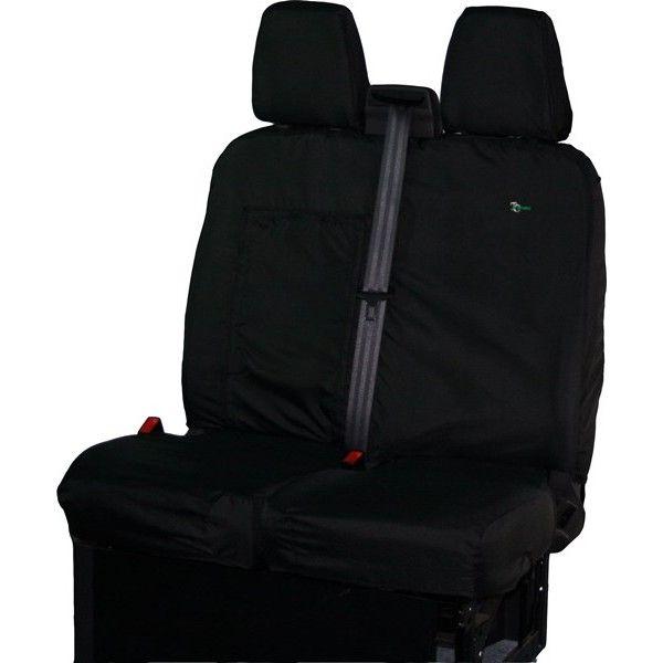 Van Seat Cover Double Black Ford Transit Custom Torneokombi 2013 Onwards