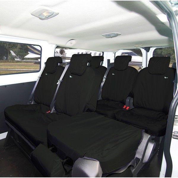 Van Seat Cover Rear Folding Black Ford Transit Custom Torneokombi Crew 2013 Onwards