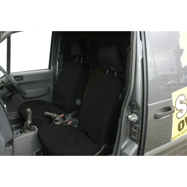 Van Seat Cover Front Black Ford Transit Connect 20022013