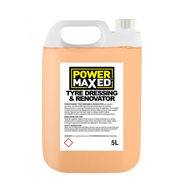 Power Maxed Tyre Dressing 5.0Ltr Ready To Use
