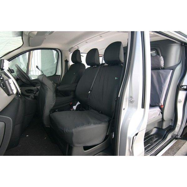 Van Seat Cover Passenger Double Black Renault Trafic Vauxhall Vivaro Nissan Nv300 And Fiat Talento