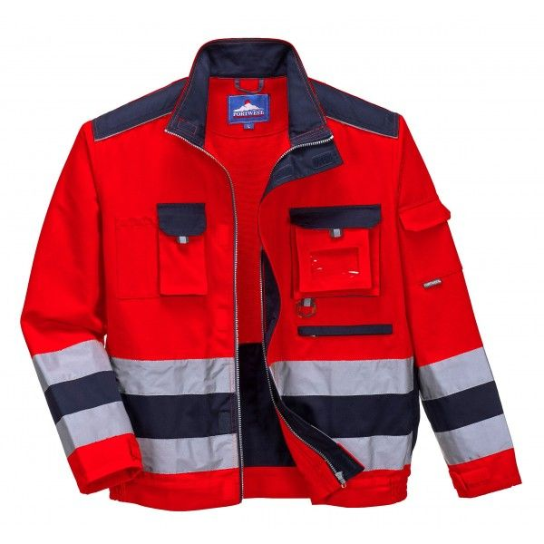 Lille Texo Hivis Jacket Rednavy Medium