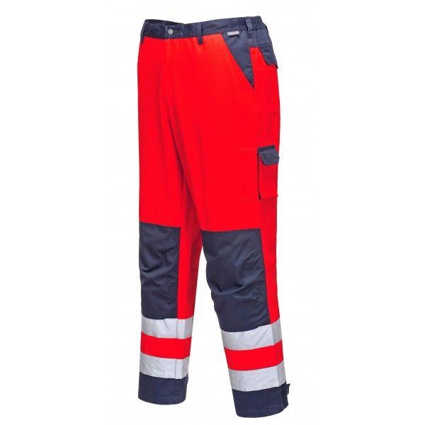 Lyon Texo Hivis Trousers Rednavy Small