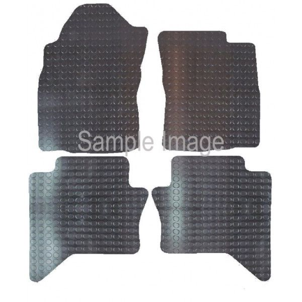 Rubber Tailored? Car Mat Toyota Hilux Double Cab 2016 Onwards Pattern 3858