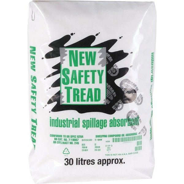 Safety Tread Absorbent Spill Granules 30 Litres