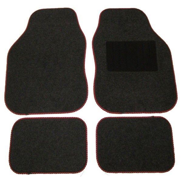 Standard Universal Mat Set Coloured Binding Black 10 X 4 Piece Sets