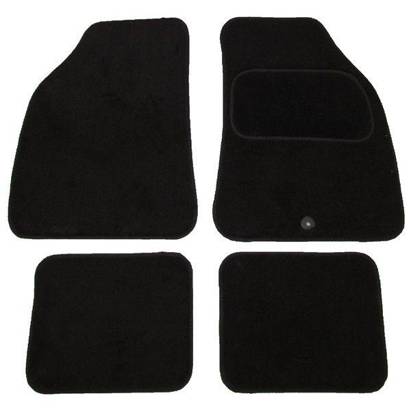 Premier Universal Mat Set With Drivers Heel Pad Black 4 Piece