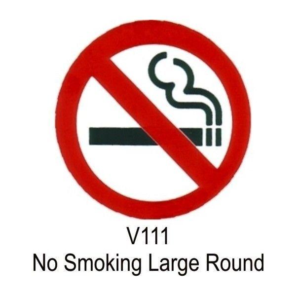 Outdoor Vinyl Sticker No Smoking Symbol
