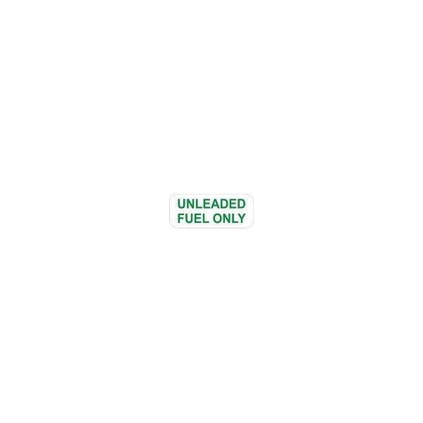 Outdoor Vinyl Sticker Green Unleaded Fuel