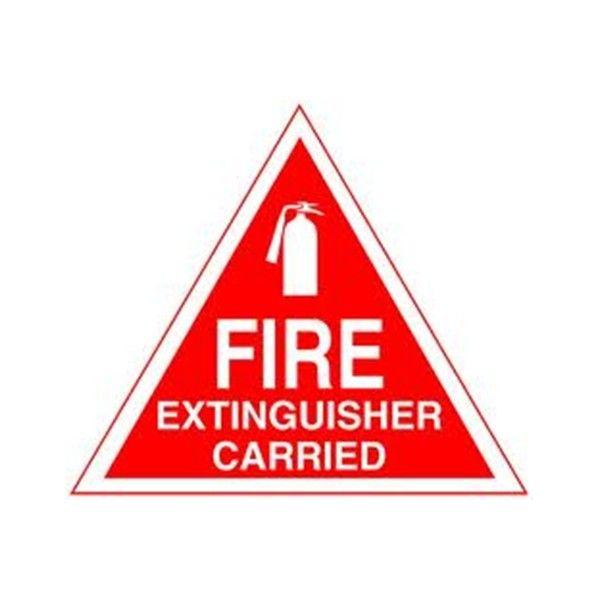 Outdoor Vinyl Sticker Red Fire Extinguisher Carrier