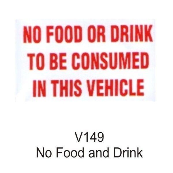 Outdoor Vinyl Sticker White No Food Or Drink