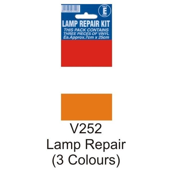 Lamp Repair Outside Sticker Pack Of 3 Colours