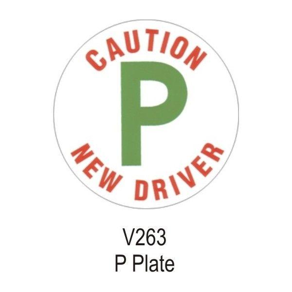 P Plate Vinyl Sticker Single