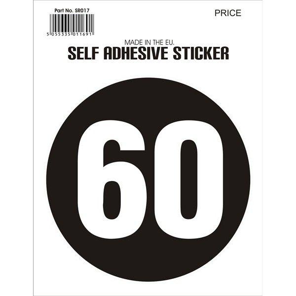 Outdoor Vinyl Sticker Black 60Mph