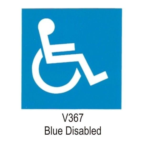 Indoor Vinyl Sticker Blue Disabled