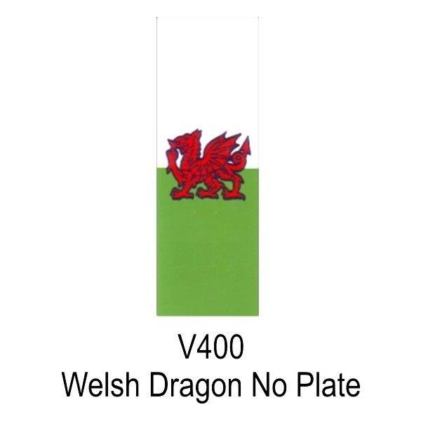 Number Plate Sticker Welsh Dragon