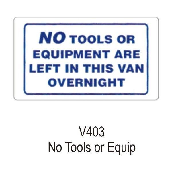 Outdoor Vinyl Sticker White No Tools Or Equipment In Van