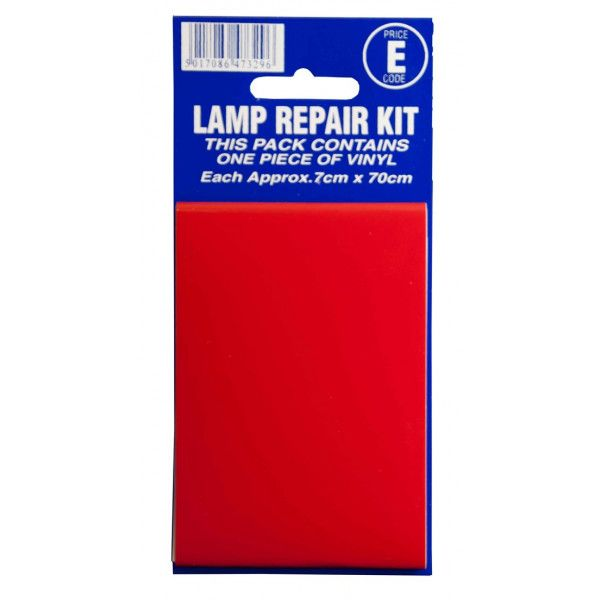 Lamp Repair Outside Sticker Red