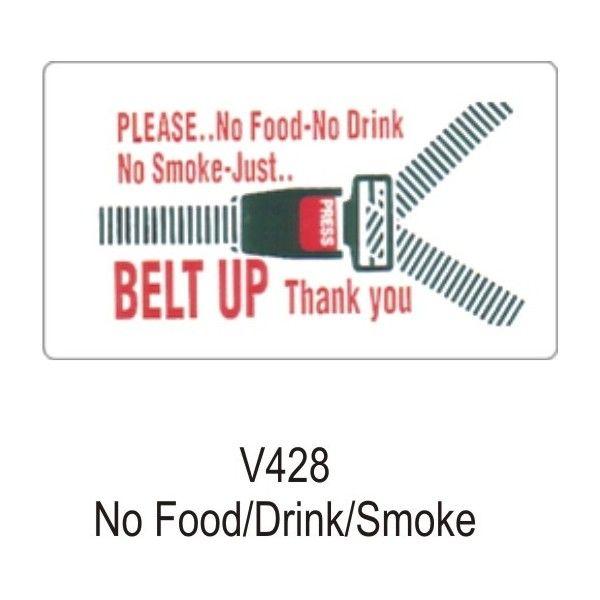 Outdoor Vinyl Sticker White No Fooddrinksmoking