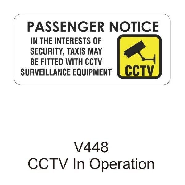 Outdoor Vinyl Sticker White Cctv Passenger Notice