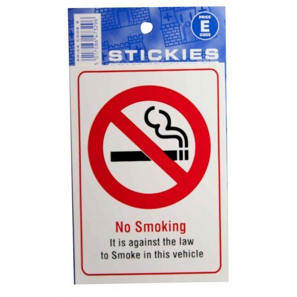 Outdoor Vinyl Sticker No Smoking In This Vehicle