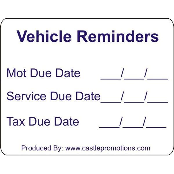 Outdoor Vinyl Sticker White Mot Reminder