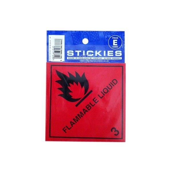 Outdoor Vinyl Sticker Red Flammable Liquid