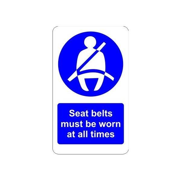 Indoor Vinyl Sticker Seatbelt Must Be Worn At All Times