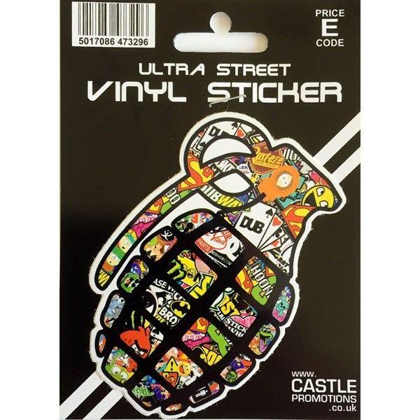 Outdoor Vinyl Sticker Stickerbomb Grenade