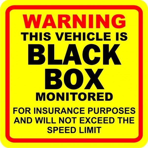 Outdoor Vinyl Sticker Black Box On Board