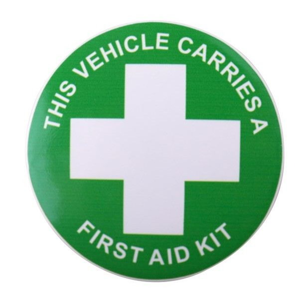 Self Adhesive Sticker This Vehicle Carries A First Aid Kit Sticker